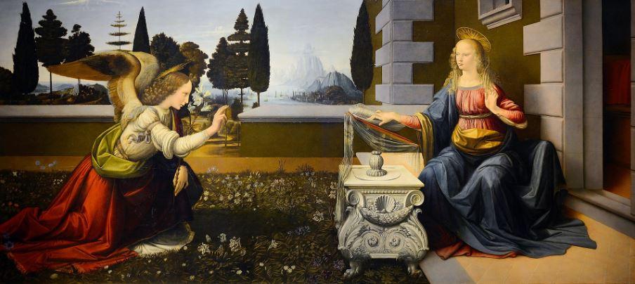 """""""Благовещение"""" Леонардо да Винчи"""