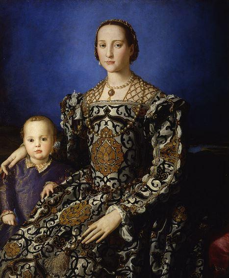 Галерея Уффици - Портрет Элеоноры Толедской с сыном