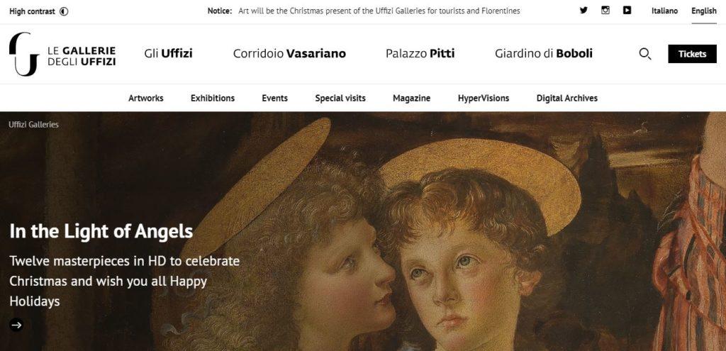 Галерея Уффици официальный сайт