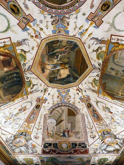 Галерея Уффици во Флоренции - Потолок коридора